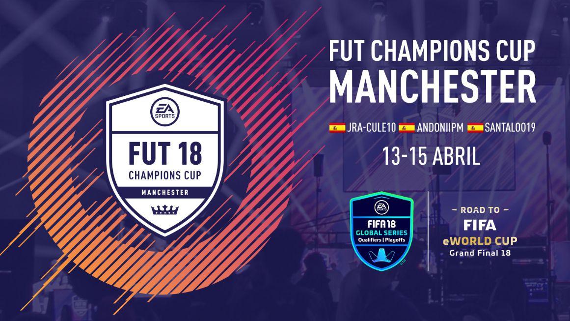 Tres españoles se clasifican para la FUT Champions Cup en Manchester