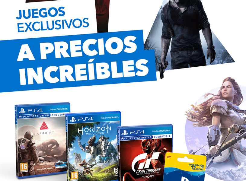 Rebajas para videojuegos exclusivos de PlayStation 4 y el servicio PlayStation Plus