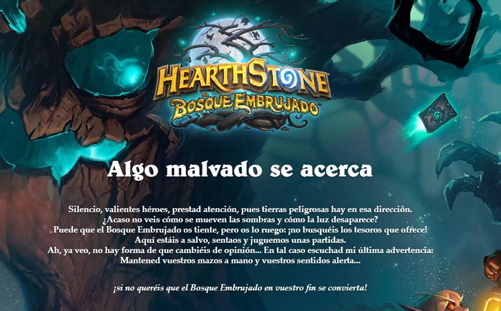 ¡Los jugadores de Hearthstone se adentran en El Bosque Embrujado el 12 de abril!