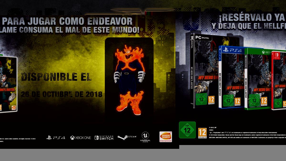 Confirmado: My Hero One's Justice se lanzará el 26 de octubre