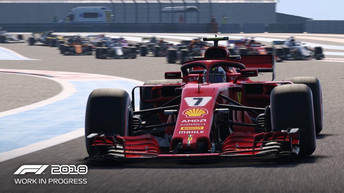 Desvelada la carátula oficial y las primeras pantallas de F1 2018