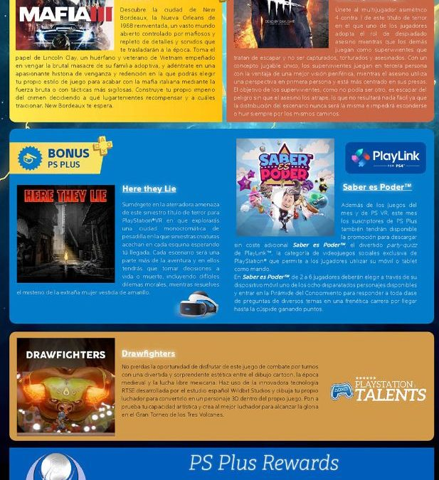 Mafia 3 y Dead by Deadlight, juegos del mes de PlayStation®Plus