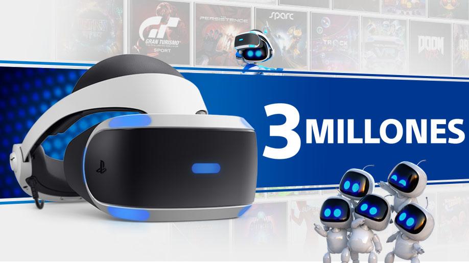 Las ventas de Playstation®VR superan los 3 millones de unidades en todo el mundo