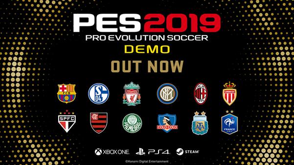 Lanzada la versión demo del Pro Evolution Soccer 2019