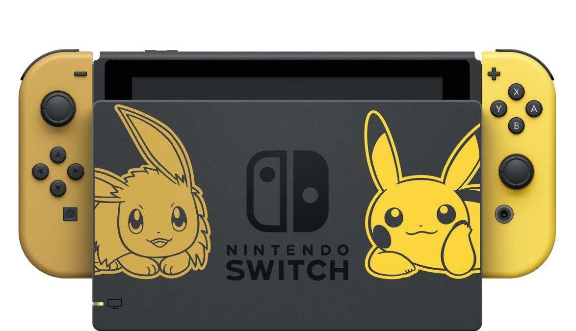 Nintendo Switch se viste de Pikachu y de Eeeve