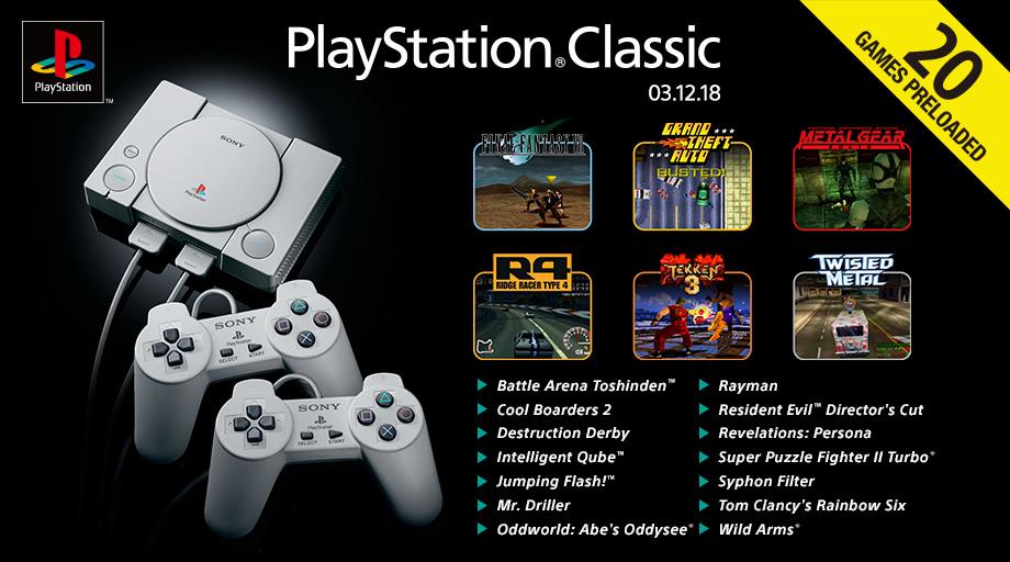 Desvelada la lista completa de juegos para PlayStation Classic