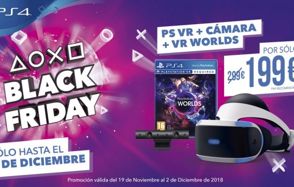 Las ofertas de Black Friday continúan con PlayStation VR a 199,99 €
