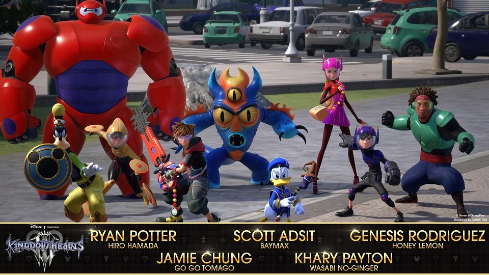 Confirmado el reparto de actores de Big Hero 6 en Kingdom Hearts III