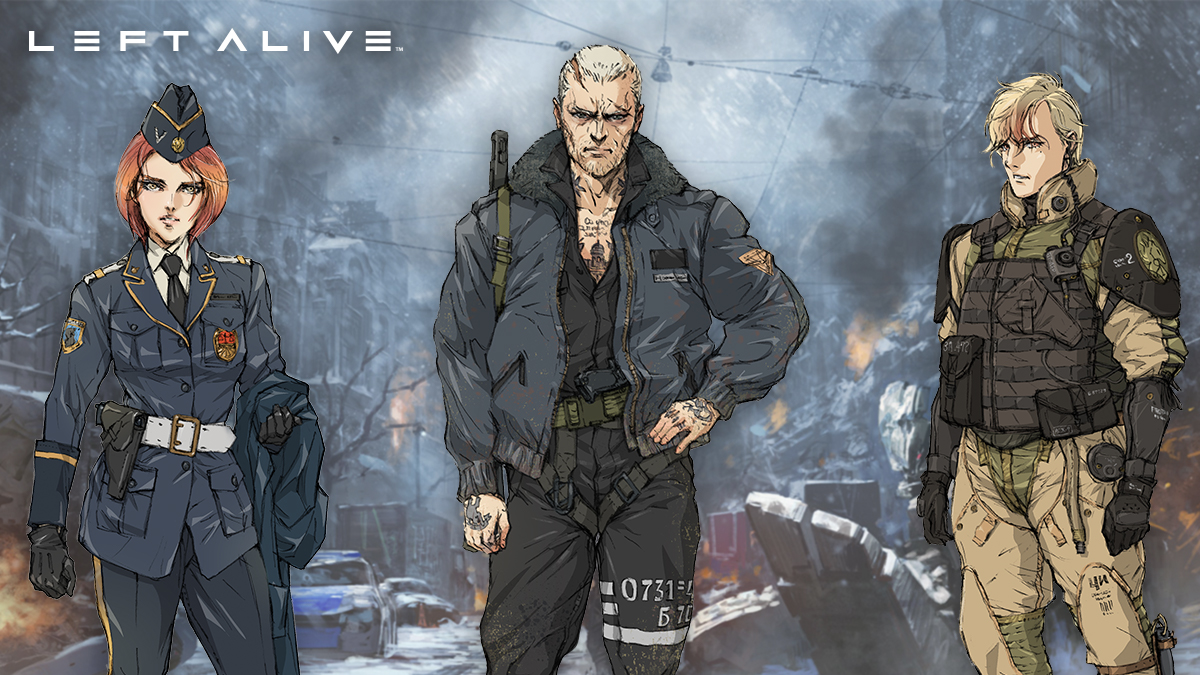 Los personajes protagonistas de Left Alive