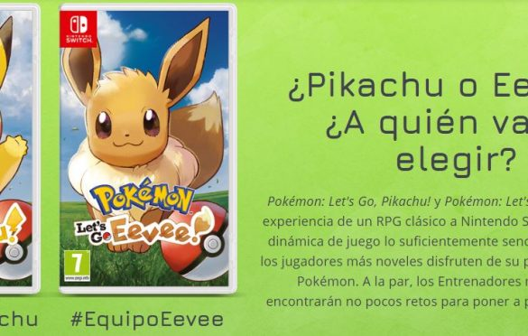 Let's Go, Pikachu! y Pokémon: Let's Go, Eevee! ya disponibles para Nintendo Switch