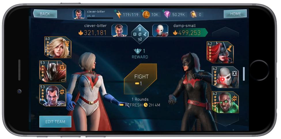 Anunciada la beta de Champions Arena en Injustice 2 Mobile