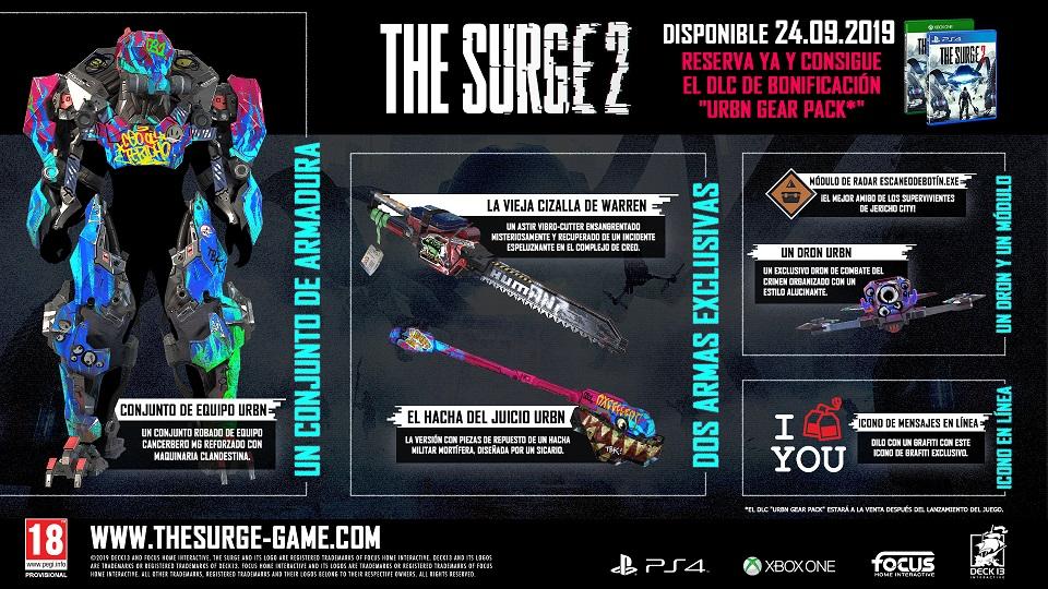 The Surge 2 llegará el próximo 24 de septiembre