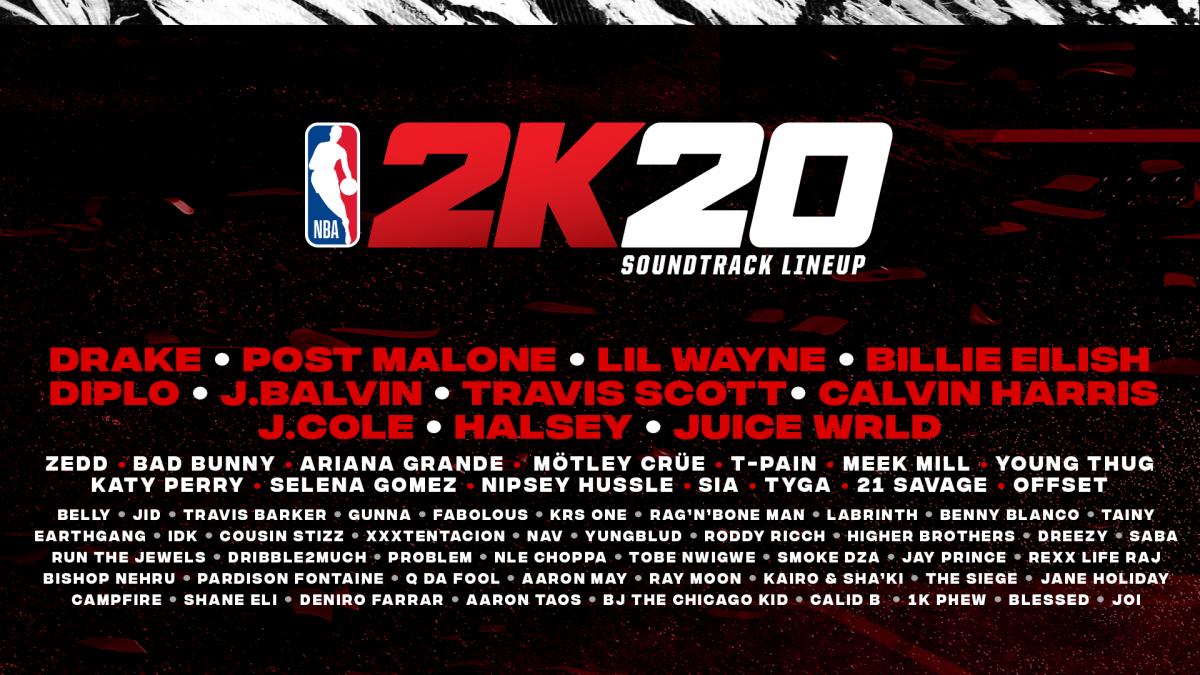 2K anuncia la banda sonora de NBA 2K20