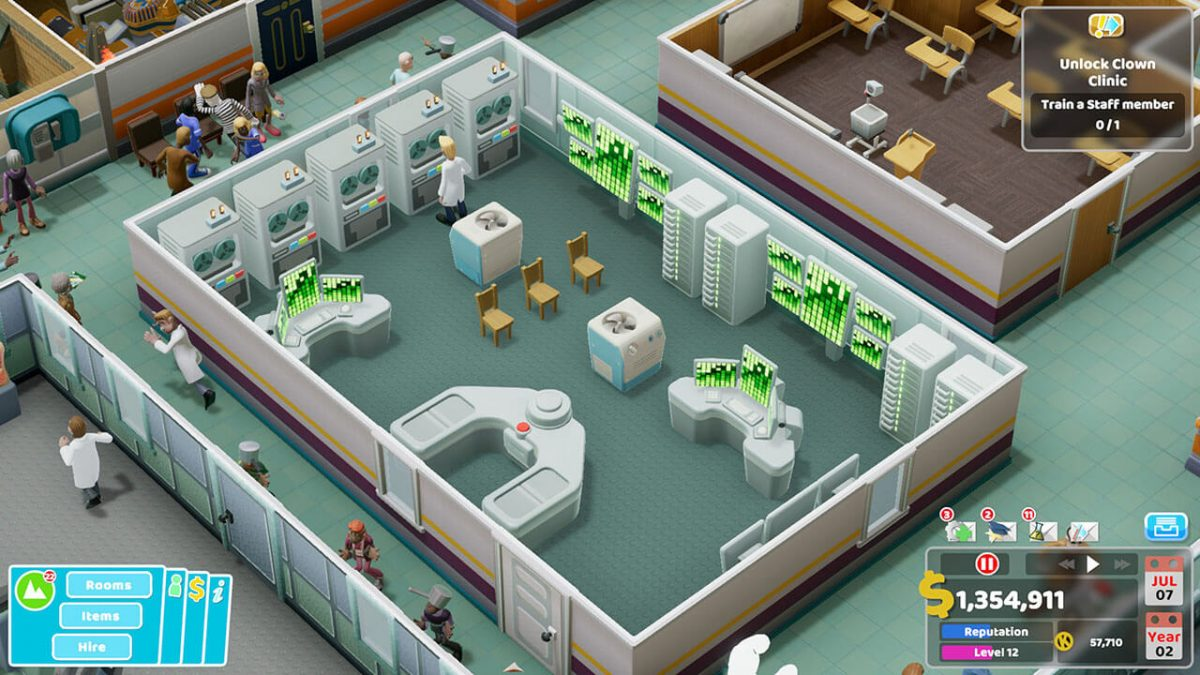 Two Point Hospital llega a consolas el 25 de febrero
