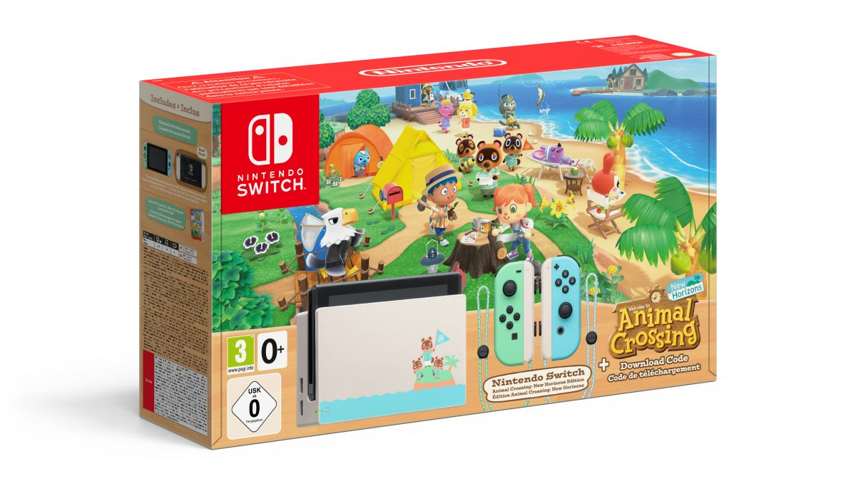 Nintendo Switch edición Animal Crossing: New Horizons, el 20 de marzo