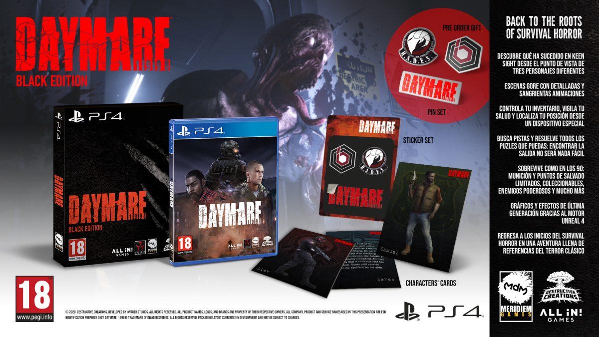 Daymare: 1998 llegará en abril para PS4 con su edición «Black Edition»