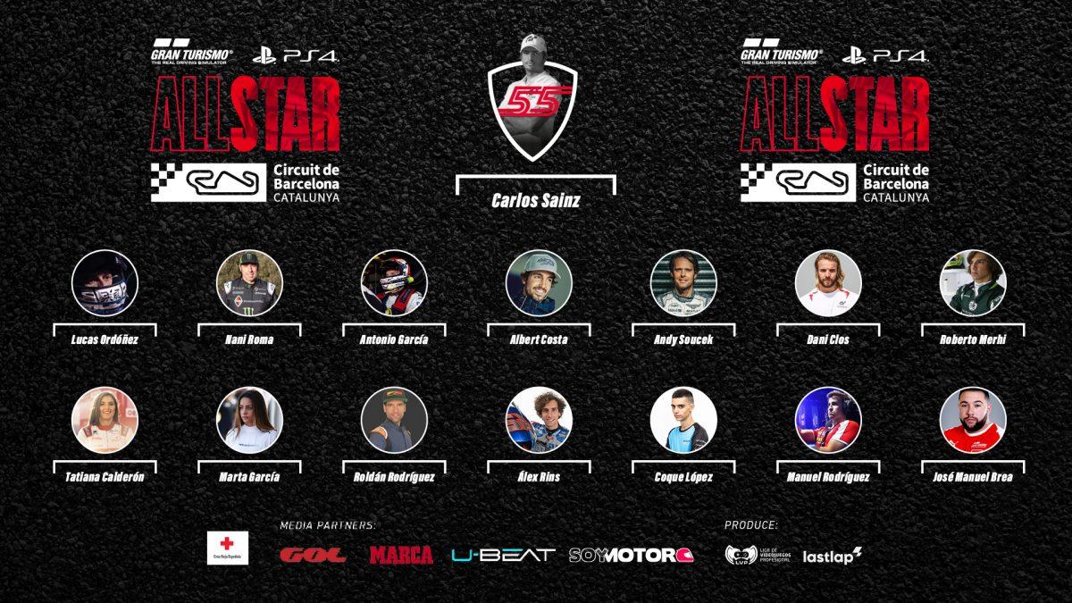 Gran Turismo All Star: Confirmados todos los pilotos que van a competir junto a Carlos Sainz