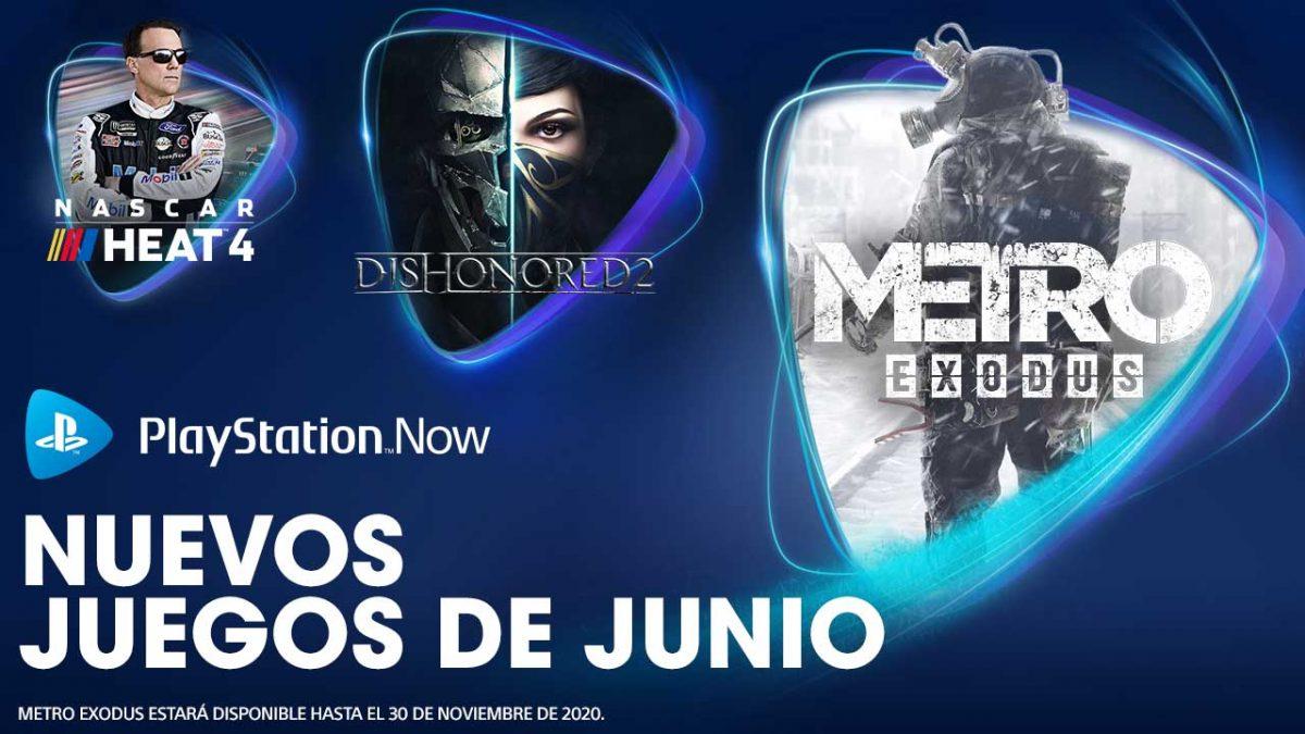 Metro Exodus, Dishonored 2 y NASCAR Heat 4 entre las novedades de junio para PlayStation Now