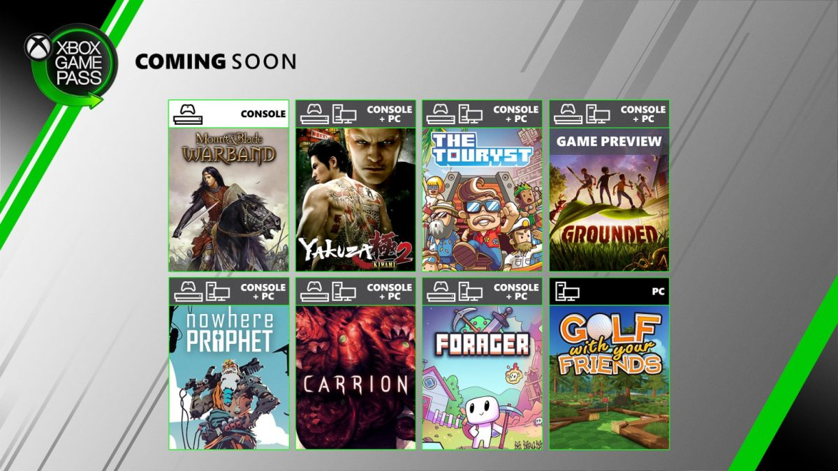 Próximamente en Xbox Game Pass: Yakuza Kiwami 2 y Grounded