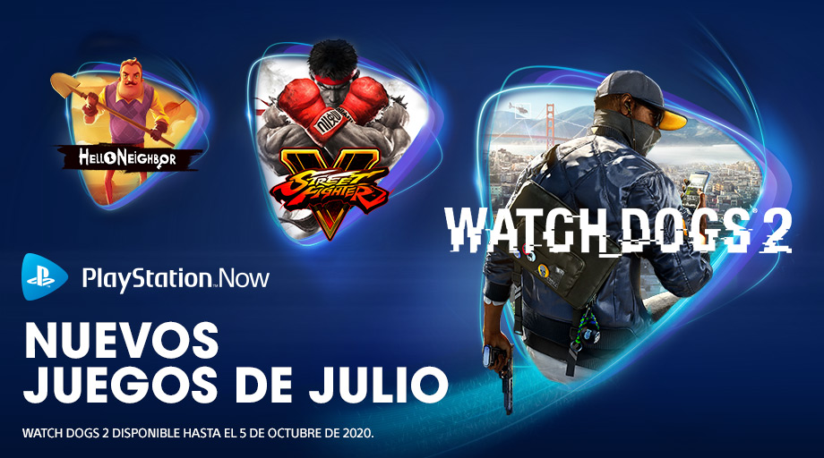 Watch Dogs 2, Street Fighter V y Hello Neighbor, novedades de PlayStation Now