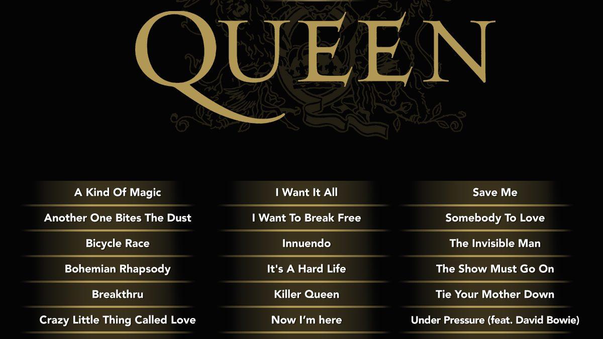 Anunciado el listado de canciones de Let's Singpresents Queen