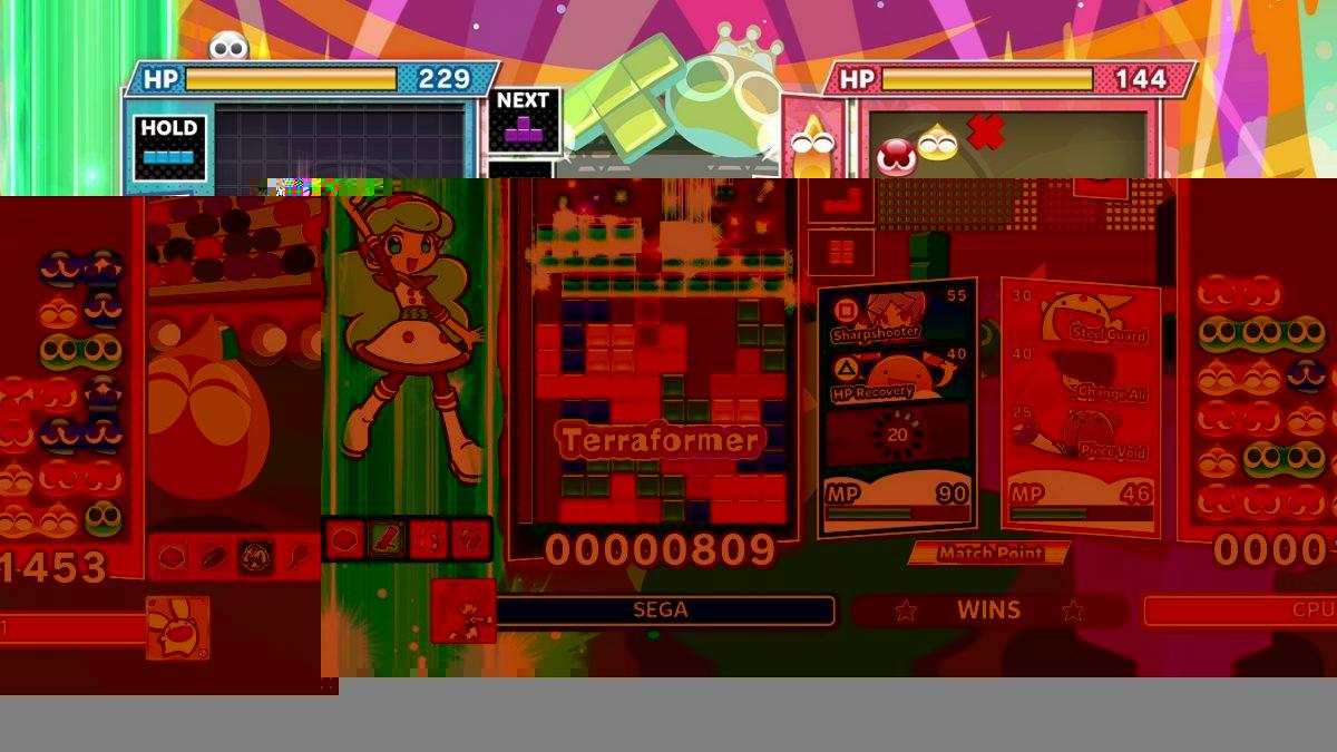 El modo Batalla de Dotes de Puyo Puyo Tetris 2