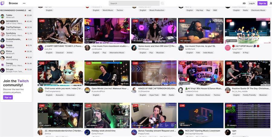De los videojuegos a la música: Twitch es la nueva plataforma para artistas