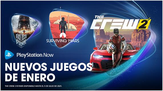 The Crew®2, SurvivingMars y Frostpunkentre, novedades de PlayStation Now en enero