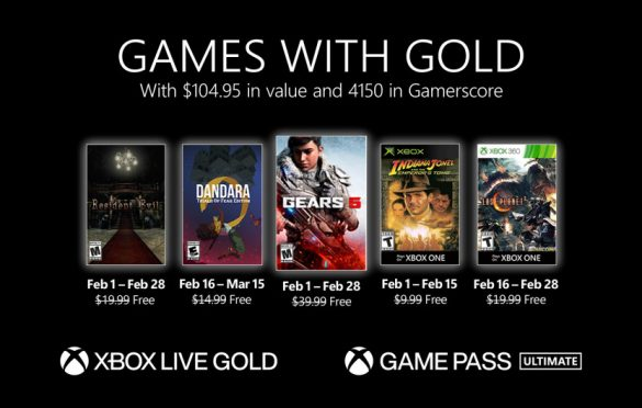 Anunciados los Games with Gold de febrero de 2021