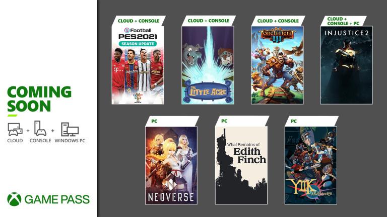 Pronto en Xbox Game Pass: Injustice 2, PES 2021 Season Update, Torchlight III y más