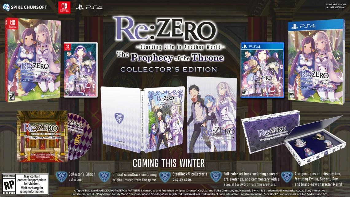 Re:Zero – The Prophecy Of The Throne ya tiene sus ediciones físicas disponibles en PlayStation 4 y Nintendo Switch