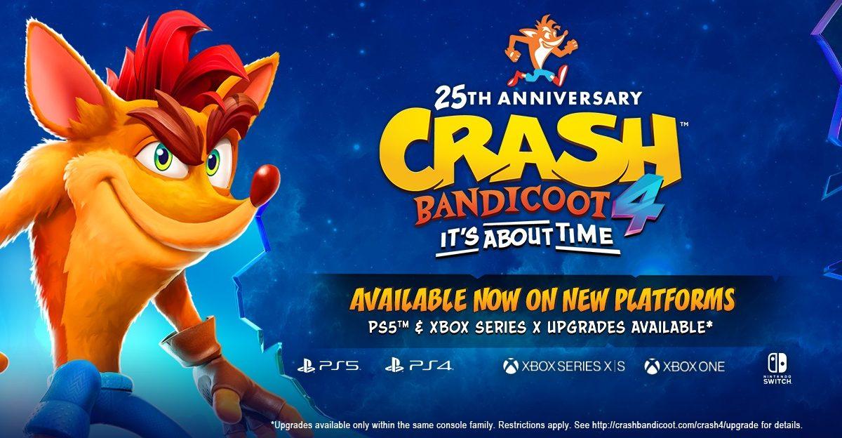 Crash Bandicoot 4, ya disponible para PlayStation 5, Xbox Series X/S y Switch