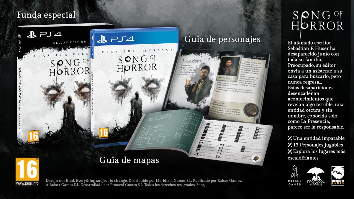 La edición Deluxe de Song Of Horror fija su fecha de lanzamiento